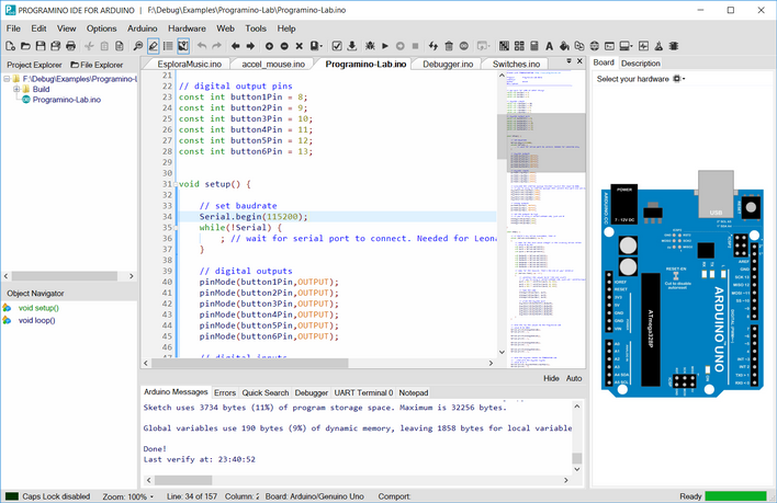 PROGRAMINO the alternative Arduino IDE